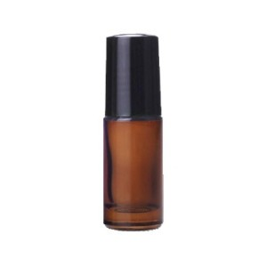 Roll on flesje amber glas dik 5 ml